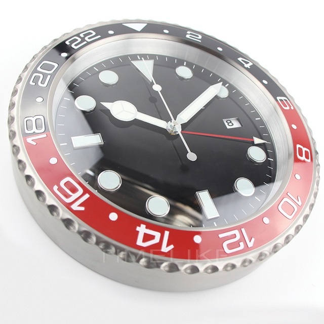 1 piece Free Shipping XL size Luxury Wall Clock Metal Watch Shape Wall Clock for Home Decoration