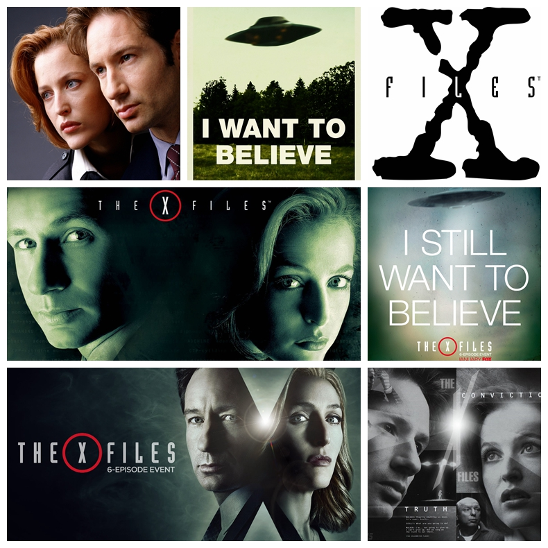 X files i want to believe tv poster Vintage Retro movie ...