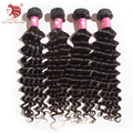 "for your nice hair 12-30"" 4pcs/lot With Mixed Length Deep Wave Grade 6A Virgin Malaysian Hair Extensions Weaves Free Shipping"