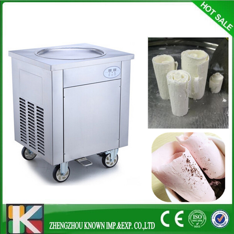 New Commercial Fried Ice Cream Machine Make Roll Ice Cream Ice Frying Machine Roll Roll Ice Cream Makers