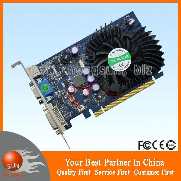 Galaxy 95tge8hufexx geforce 9500 gt video card 1024mb ddr2, pci.