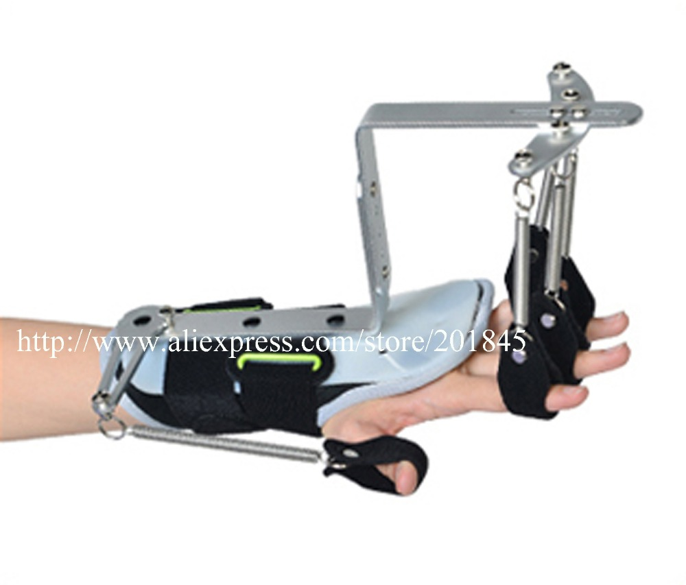 ФОТО Aluminum Finger Orthosis Belt Stroke Hemiplegia Finger Exercise Rehabilitation Training Equipment