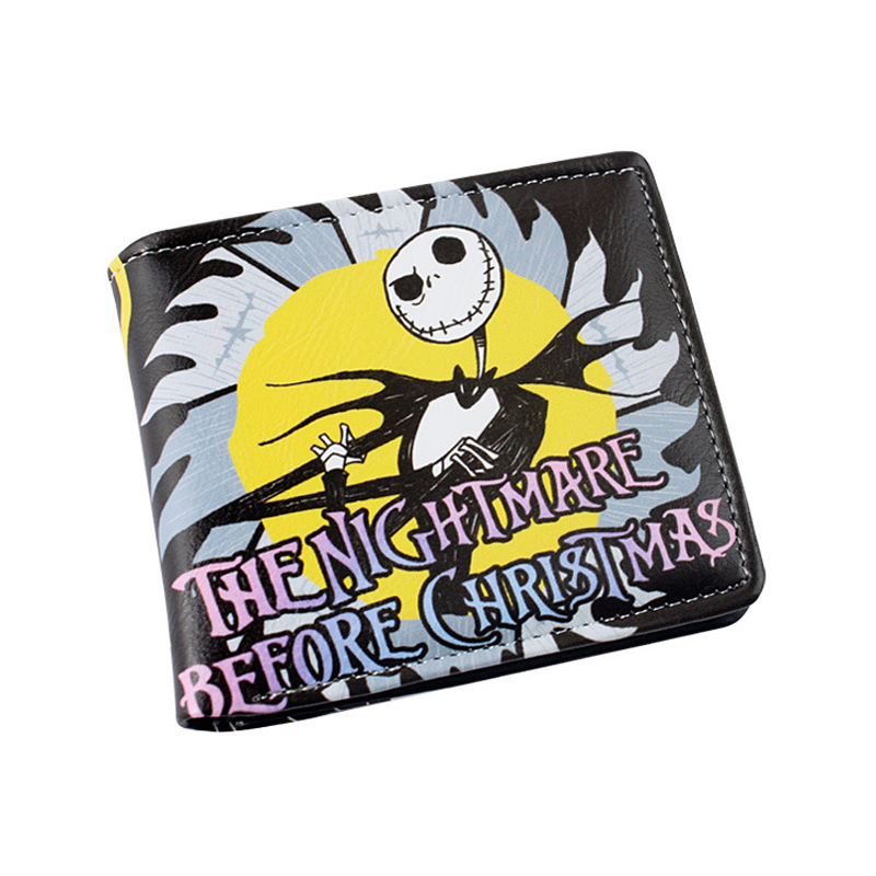 The Nightmare Before Christmas Multilayer colorful PU short wallet W-Sally Jack Skellington Dr. Finkelstein Santa Type C long style pu wallet of the nightmare before christmas skull jack with button and multi layer