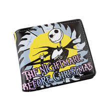 The Nightmare Before Christmas Multilayer colorful PU short wallet W-Sally Jack Skellington Dr. Finkelstein Santa Type C(China)