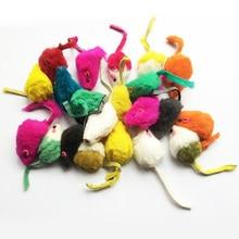 10Pcs/lot Rabbit Fur False Mouse Pet Cat Toys Mini Funny Playing Toys For Cats Kitten