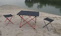 8 шт./лот, 57 * 42 * 34 см небольшой портативный складной стол на открытом воздухе. велосипед urltra - свет, только около 650 г/шт