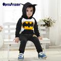 2016 Retail Winter kids clothes batman girls clothes hoodies+pants boys clothing sets christmas clothes sports suits for 2-6yr
