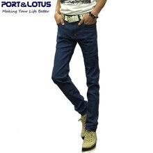 Порт и лотоса мода свободного покроя джинсы новое поступление с молнией лету сплошной цвет карандаш брюки slim-подходят мужчины джинсы 023 оптовая продажа