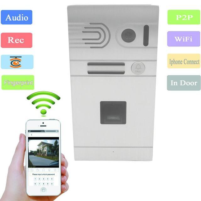 Android/Iphone Remote Control WIFI Video Doorbell Fingerprint IP Intercom Home Door Access Control System