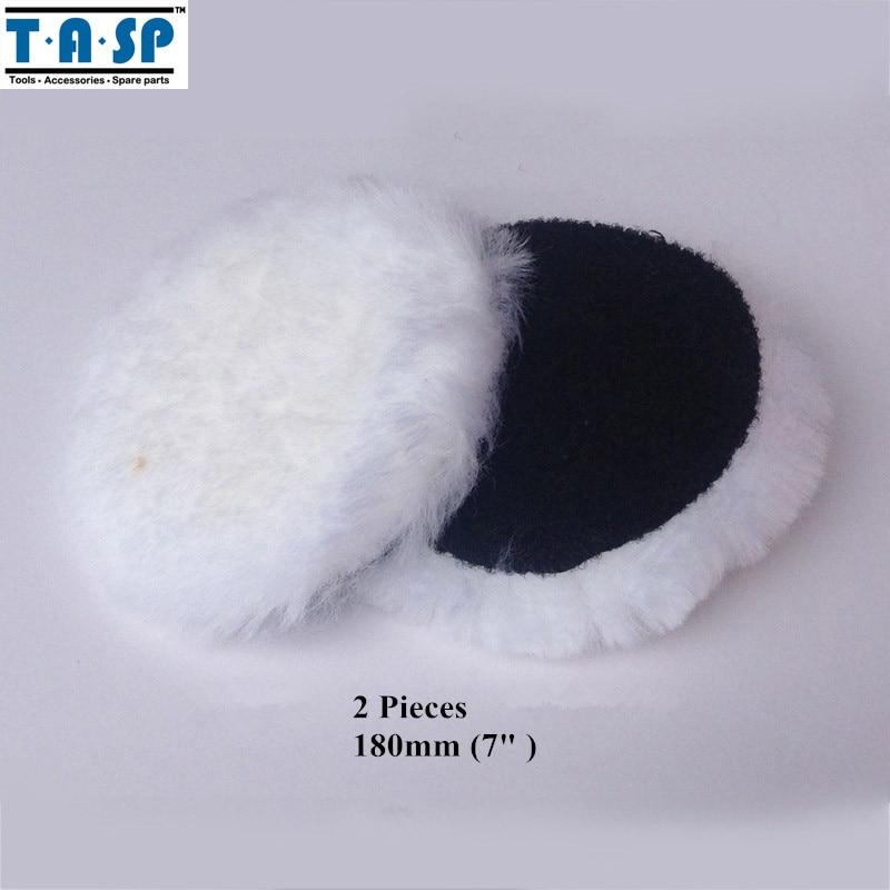 TASP 2x180mm 7 pouces laine dagneau tampon de polissage Bonnet pour voiture polisseuse crochet boucle conceptionTASP 2x180mm 7 pouces laine dagneau tampon de polissage Bonnet pour voiture polisseuse crochet boucle conception