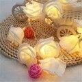 1.2 M 10LED Novedad Rose Flower Fairy Luces 6 Colores Opcionales LED Iluminación Boda Navidad Deco Jardín Dormitorio Lumiere