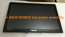 Free Shipping 15.6 touch screen digitizer glass for ASUS N550JV lcd screen digitizer assembly 90NB00K1-R20030
