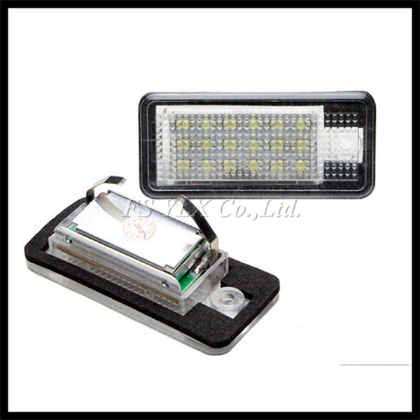Car 18SMD LED License Number Plate Light Lamp for AUDI A3 S3 A4 S4 B6 B7 A6 S6 A8 Q7 LED License Plate Lights for AUDI  A3 S3 A7 от Aliexpress INT