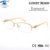 Design Diamante Armação dos óculos Mulheres de Luxo de Alta Qualidade Metade Rim Óculos Limpar Lens Óculos monturas de gafas mujer