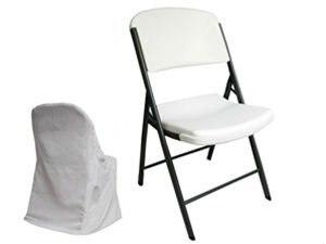 /чехол на кресло из полиэфира/чехол для свадебного стула/складные чехлы для стульев/белый цвет
