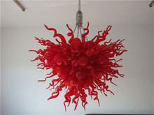 Flower Shaped Wholesale Murano Glass Crystal LED Red Ceiling Lighting for Living Room Decoration