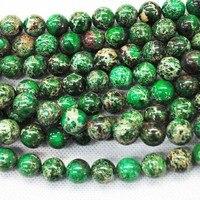 100 шт./лот ), зеленый император джаспер круглый мяч, полудрагоценных камней, мода ювелирных изделий, размер : 8 мм