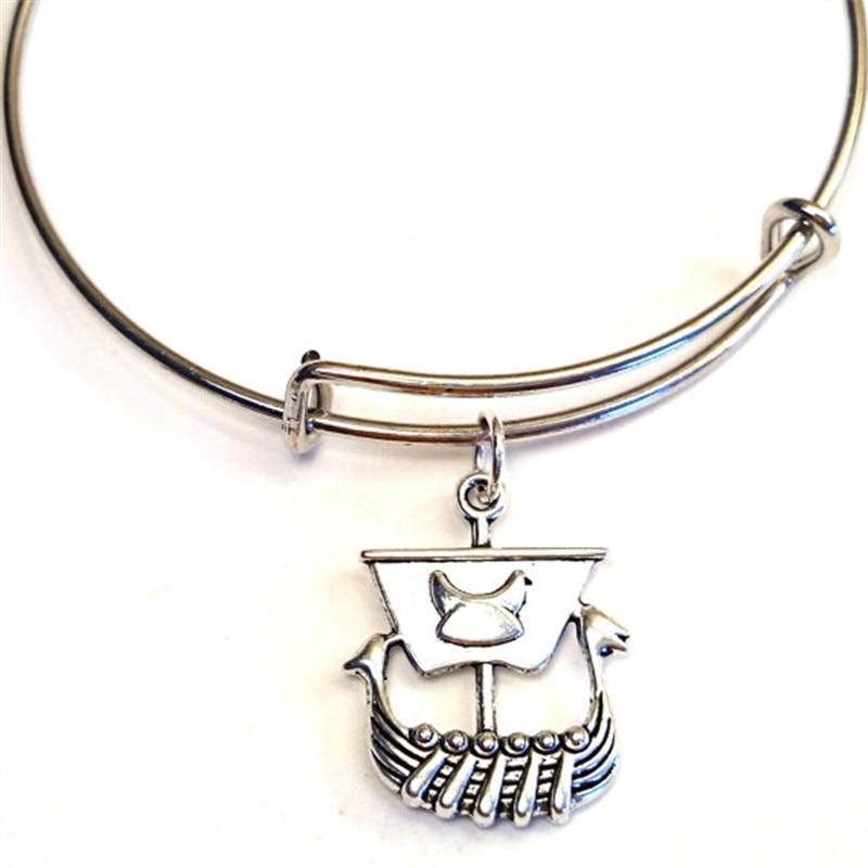 Jewelry & Accessories Careful 12pcs/lot Viking Ship Bracelet Viking Charm Bangles Adjustable Viking Jewelry Scandinavian Jewelry Bangles