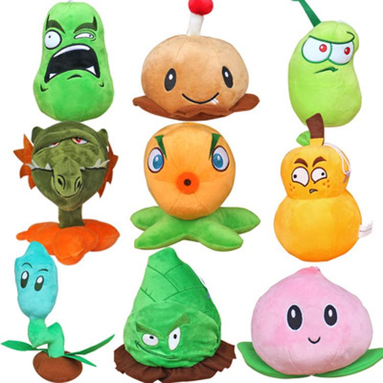 9pcs/set Plants vs Zombies Stuffed Plush Toys Doll Plants vs Zombies Games 2 Plants Soft Plush Toy Gift for Kids Gift Party Toys 1pcs 48 style pc game plants vs zombies plush toys plants soft plush dolls stuffed doll figure toy for kids children gift m1 8