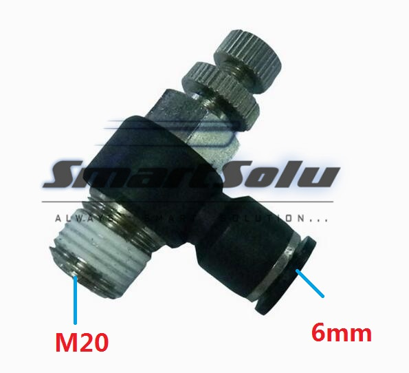 Free Shipping10pcs/lot SL06-M20Pneumatic Throttle Valve,Quick Push In 6MM Tube M20 Inch Air Fitting Flow Controller 5pcs lot sspmm stainless steel anticorrosion food grade quick connect air tube accessories bulkhead union fitting sanmin