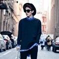 Para hombre Da Vuelta-abajo Jersey Sudadera de Manga Larga con la Letra Impresa de Diciembre 2016 Nuevo Estilo Coreano Sudaderas Casual Wear