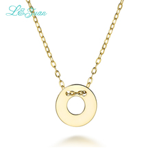 I&zuan 925 Silver Pendants Necklaces For Women Trendy Top Quality Round Shape circle Link Chain Fine Jewelry