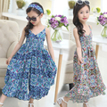 Vestidos de verão Para Meninas Crianças Vestuário de Algodão Imprimir Floral Bohemian Praia Vestido Da Menina de Moda Crianças Vestidos de Meninas Roupas de Bebê