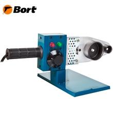 Аппарат для сварки труб Bort BRS-1000 (Мощность 1000 Вт, насадки 20/25/32/40/50/63 мм, регулировка температуры до 300 °С)