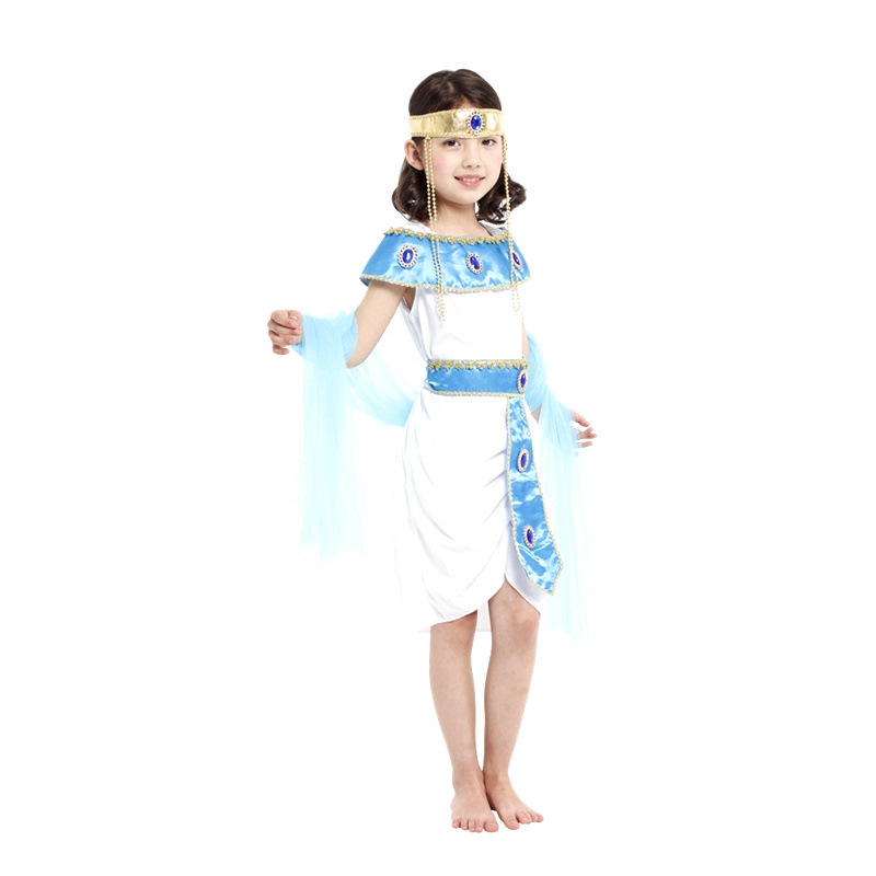 Forceful Fantasia Girls Princess Cleopatra Cosplay Showing Cloth Halloween Greek Goddess Athena Costume Children's Day Performance Dress