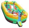 2016 indoor and outdoor playground for kids/ inflatable bouncer jumping bouncy castle slide for sale
