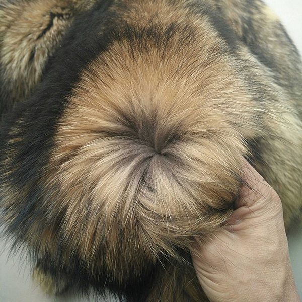 Bonne qualité vraie peau de raton laveur/peau de raton laveur bronzé peau de fourrure réelle - 3