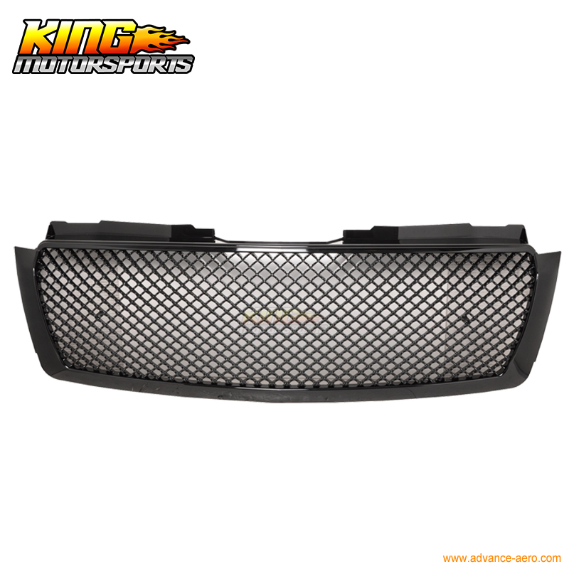 For 2007-2014 Tahoe Suburban 1500 2500 Avalanche UPPer Grille Mesh Glossy Black New USA Domestic Free Shipping Hot Selling for 07 09 toyota tundra chrome mesh grill grille brand new 2007 2008 2009 usa domestic free shipping hot selling