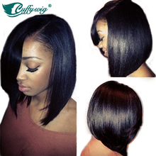 Hot Selling Lace Front Wig Bob Virgin Human Hair Lace Front Bob Wigs with Side Bangs For Black Women Glueless Short Bob Lace Wig