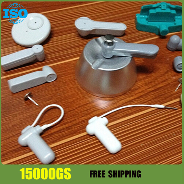 EAS System Clothing Security Hard Tag  remover  15000GS detacher silver color 1pcs free shipping