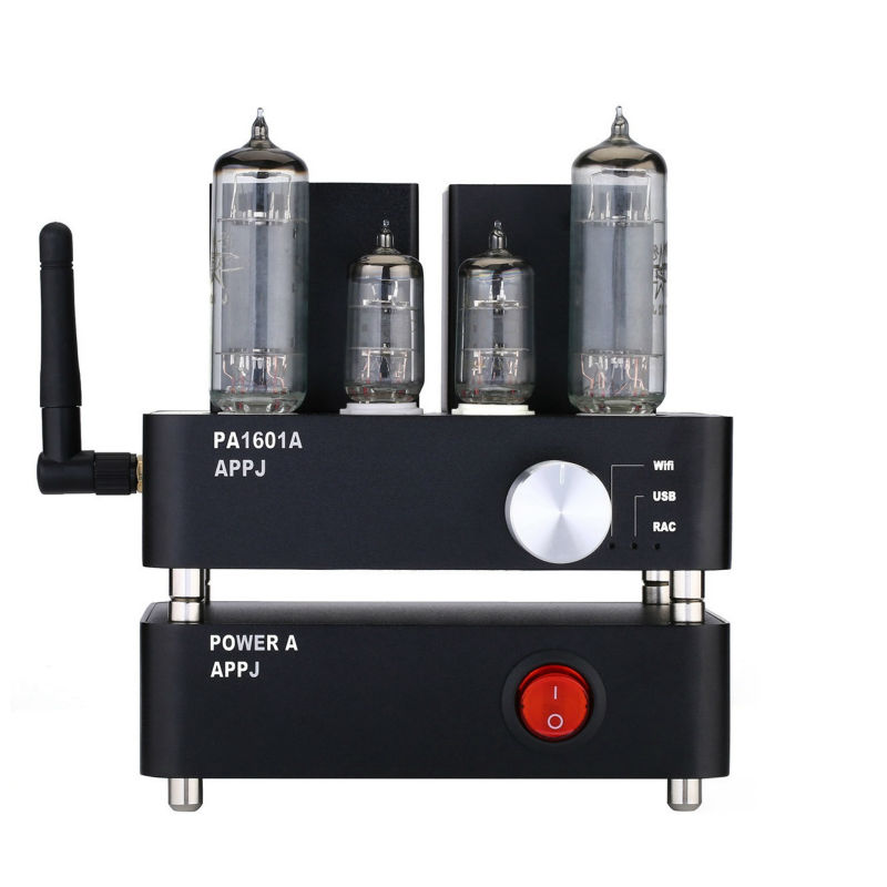 APPJ PA1601A 6P14 (el84) tube amplifier WIFI Bluetooth USB SD Multi Receiver Decoder Lamp Amp HIFI EXQUIS brand new appj pa1601a vintage mini 6j1 6p4 tube amplifier desktop wifi usb sd card player 3w 3w silver