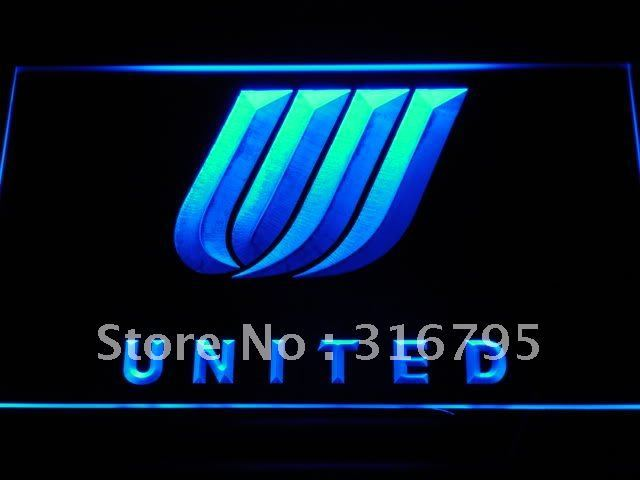 d034 United Airlines LED Neon Sign with On/Off Switch 7 Colors to choose