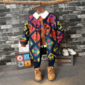 European And America Style 2016 new winter coat agitation fan boy fashion cloth with long coat coat in children For 2-7Years Old