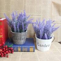 Alta imitación lavanda maceta / plantas de interior decoración simulación pequeñas plantas bonsai / DIY artificial en maceta decoración del hogar