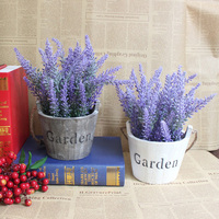 High imitation lavender potted /indoor plants decoration simulation small bonsai plants/DIY artificial potted home decoration
