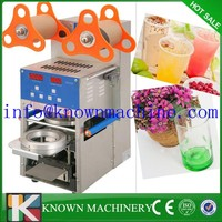 Hot sale commercial use 110V/220V Stainless steel Automatic digital boba tea cup sealing machine plastic cup sealer machine
