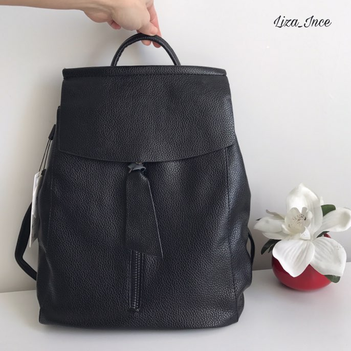 women leather backpack minimalist solid black high quality school bags for teenagers girls preppy style backpacks