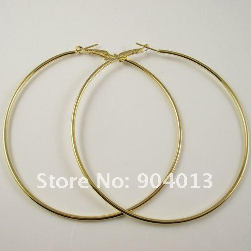 24 Pairs 80mm Ouro Hoop Earrings Big