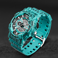 SANDA New Men's Watch Men Military Army Digital Quartz-Watches Waterproof Calendar LED Sports Watches relogio masculino