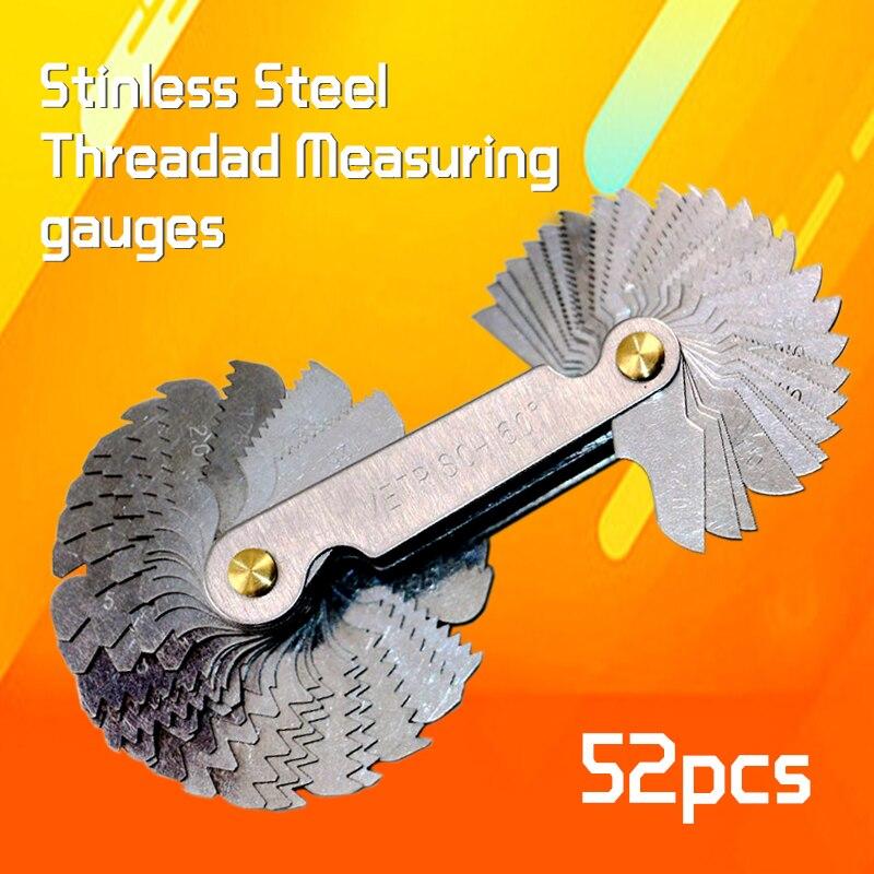 Бесплатная доставка Резьбовая заглушка из нержавеющей стали метрический винтовой шаг 60 и 55 градусов измерительный прибор