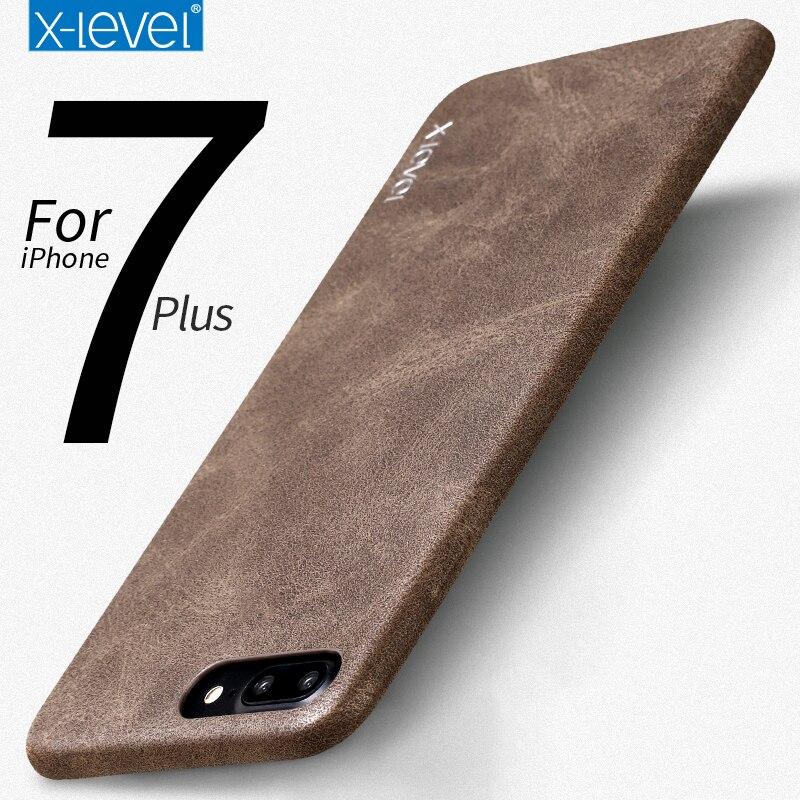 X-Level für iPhone 7 Hülle Zubehör Luxusmarke Retro Leder TPU - Handy-Zubehör und Ersatzteile - Foto 1