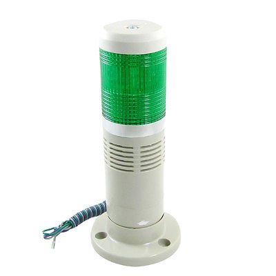 24V/12V Industrial Green Signal Tower Light LED Warning Lamp with Buzzer Bcptw dc24v tower buzzer warning red green led industrial warning light