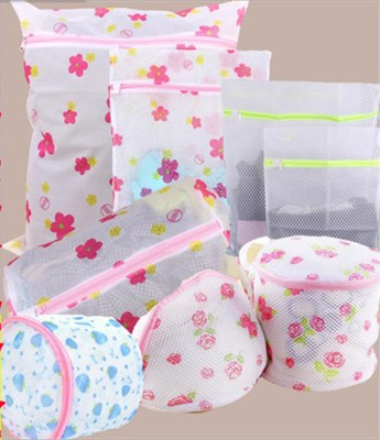 Laundry Bags & Baskets Korean Fine-structure Mesh Underwear Laundry Bag  Printed Laundry Bag