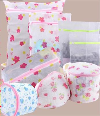 Laundry Bags & Baskets Korean Fine-structure Mesh Underwear Laundry Bag  Printed Laundry Bag