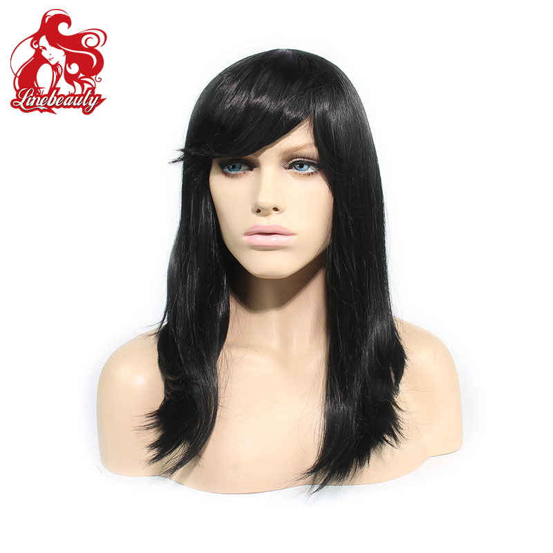 2015 Available Celebrity Straight Wig Cheap Wigs Natural Color Female Synthetic Wigs For Black Women от Aliexpress INT