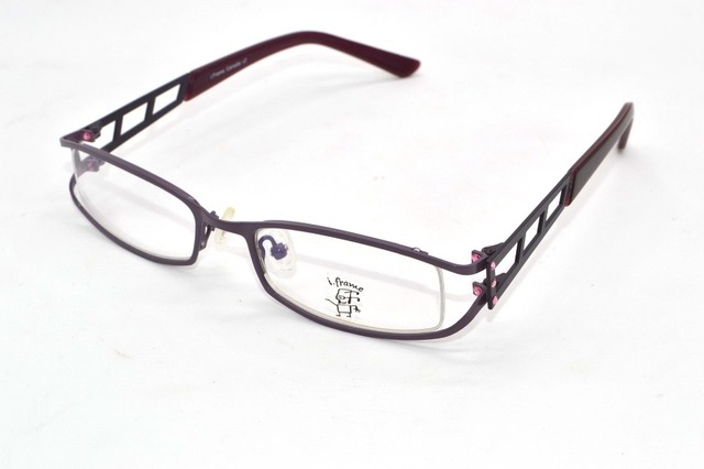 0f6a8f821bfb Dame Hollow frame structure Diamond Decoration eyewear Optical Custom Made  Prescription myopia glasses Photochromic -1.0
